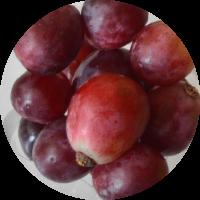 Fruta envasada: uva