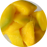 Fruta envasada: mango