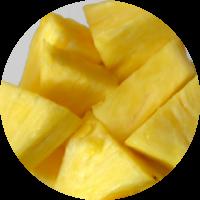 Fruta envasada: piña