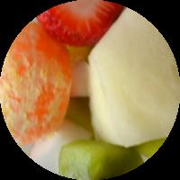 Fruta envasada: kiwi, melón, fresa, mandarina
