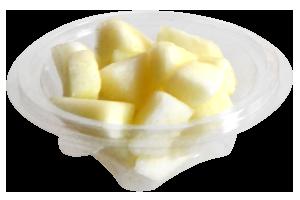 Tarrina redonda de 175 g, contiene melón troceado o cualquier otro tipo de fruta o combinación variada.