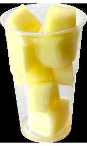 Vasos con tapa de 120 a 175 g, contiene melón troceado o cualquier otro tipo de fruta o combinación variada.